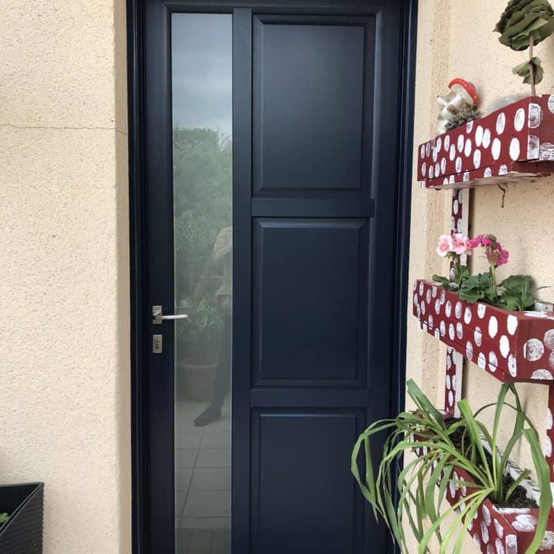 mpo fenêtres porte d'entrée en pvc bleu