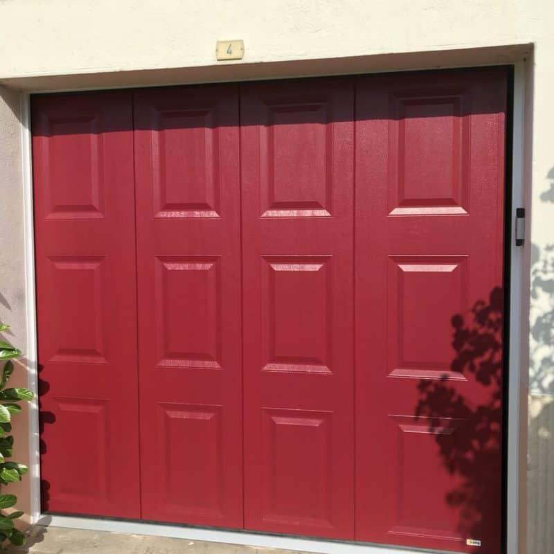 mpo fenêtres porte de garages à cassettes rouge basque