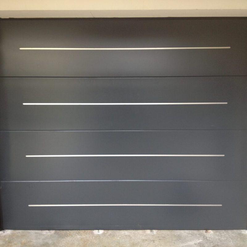 mpo fenetres porte de garage sur mesure grise decors inox