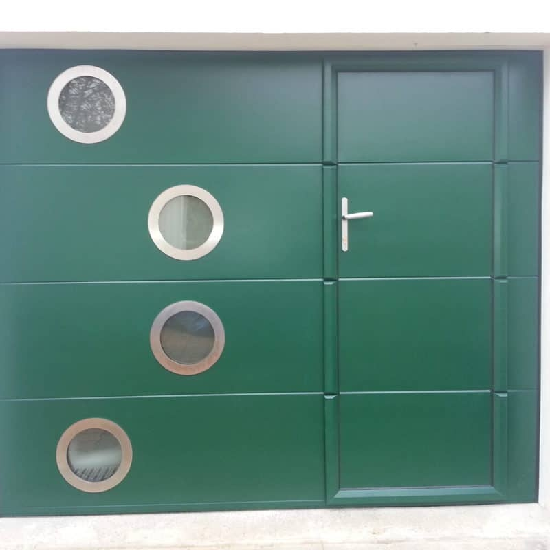 mpo fenetres porte de garage sur mesure vert sapin