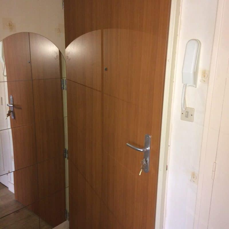 mpo fenetres porte d'entrée palière sur mesure effet bois
