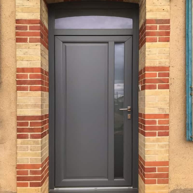 mpo fenêtres le mans porte d'entrée en pvc gris anthracite 2
