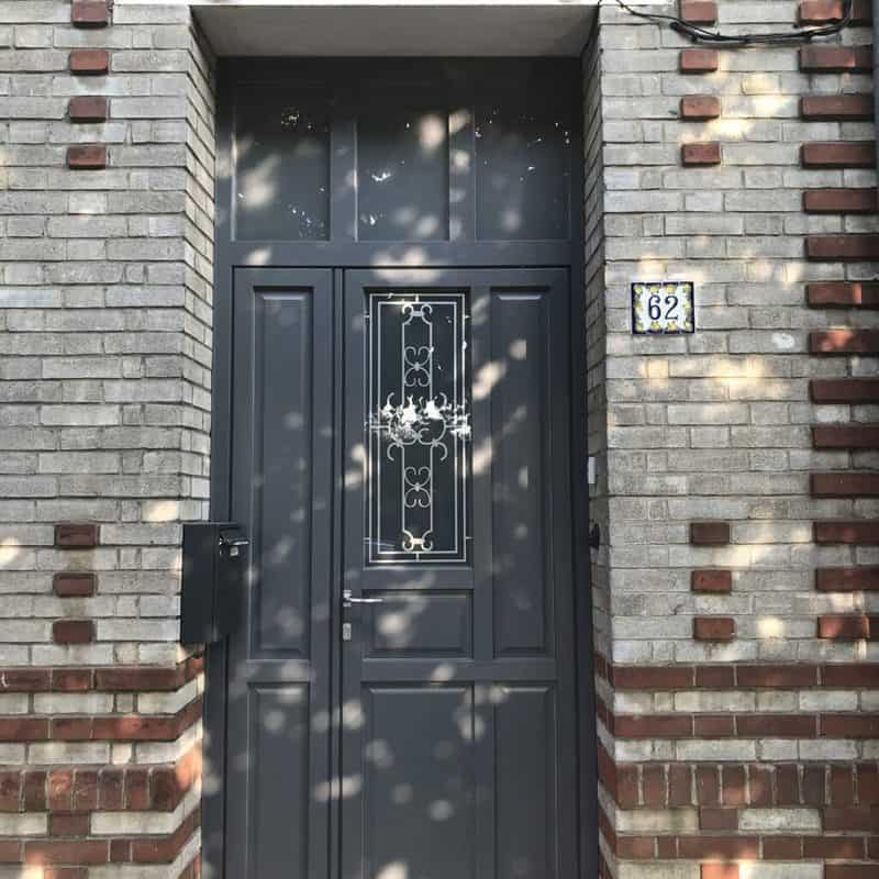 mpo fenêtres porte d'entrée pvc grise