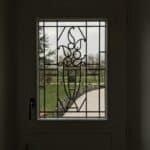 mpo fenêtres porte d'entrée pvc blanc avec grille décorative 2