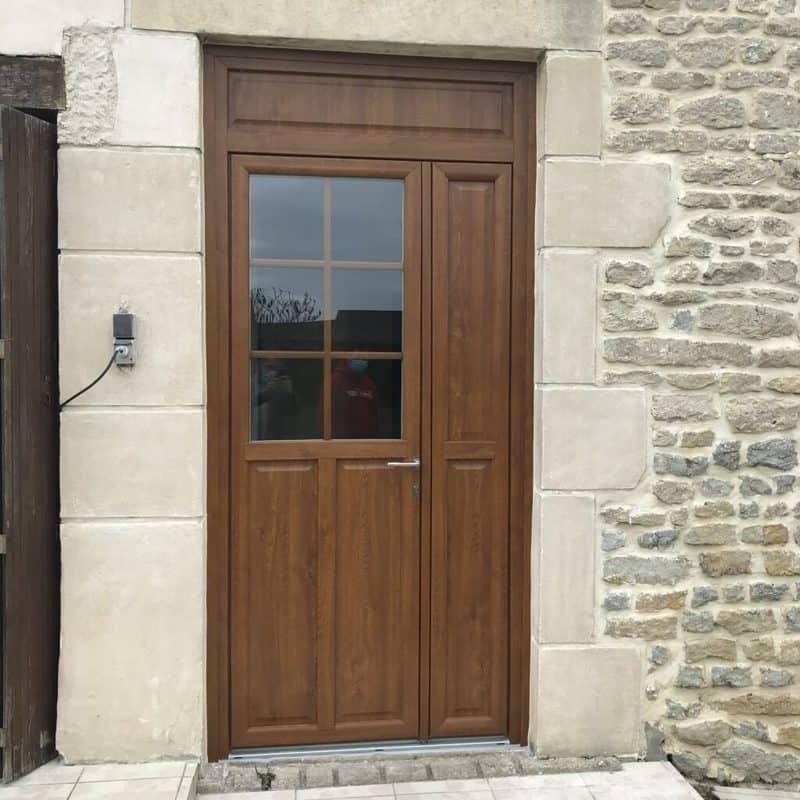 mpo fenêtres porte d'entrée en pvc chêne doré