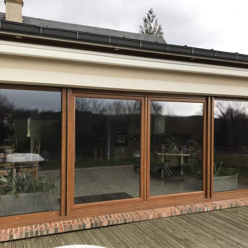 mpo fenêtres baie vitrée en pvc coulissante