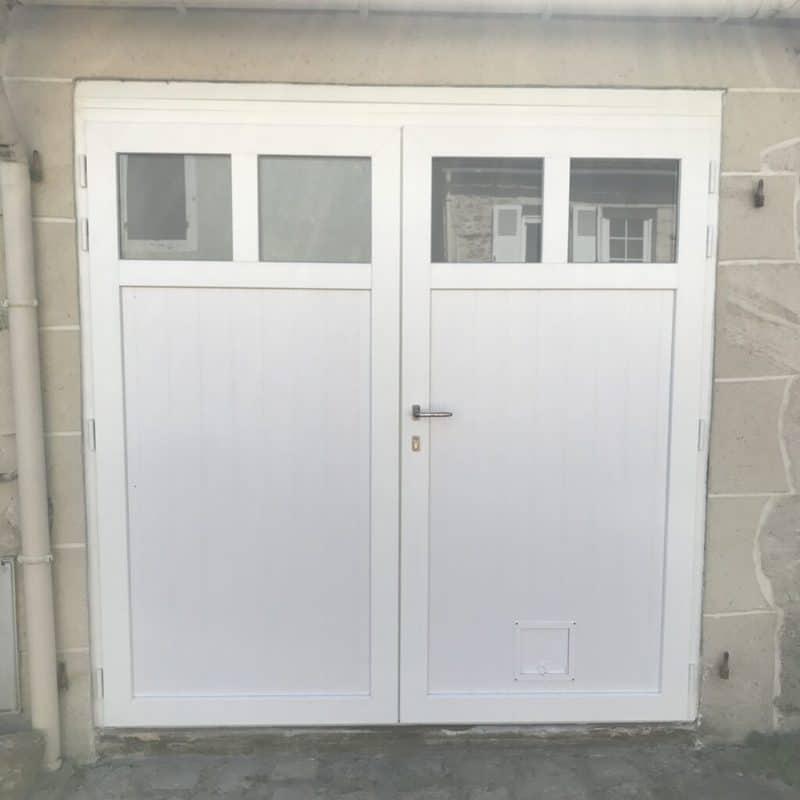 mpo fenêtres porte de garage blanc pvc mpo
