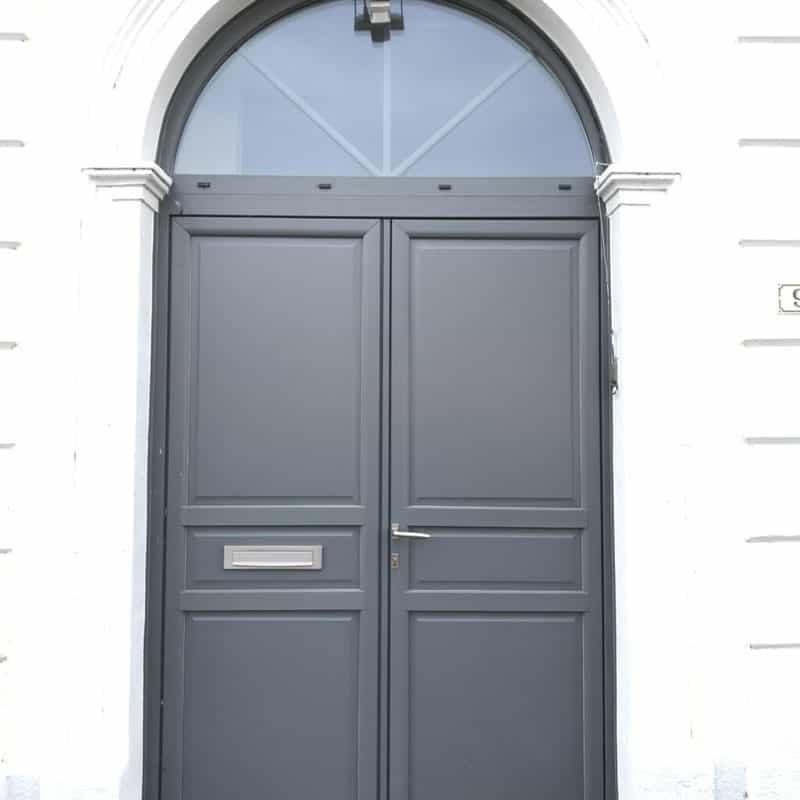 mpo fenêtres porte d'entrée pvc gris