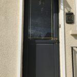 mpo fenêtres porte d'entrée pvc vitrée avec petits bois laiton 1