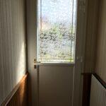 mpo fenêtres porte d'entrée pvc vitrée avec petits bois laiton 2
