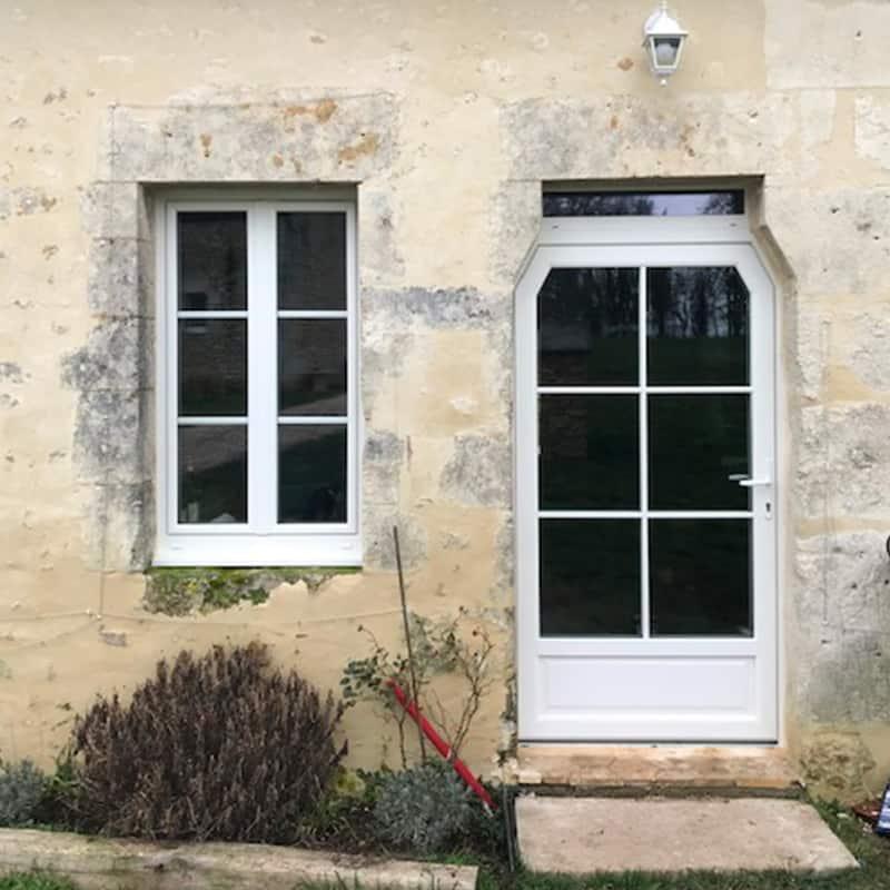 mpo fenêtres porte d'entrée et fenêtres pvc blanc