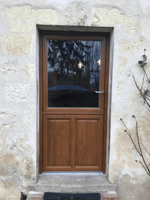 mpo fenêtres porte d'entrée fermière chêne doré