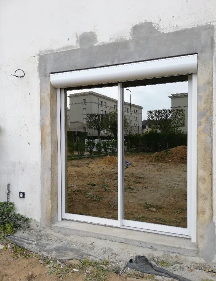 mpo fenêtres baie vitrée coulissante blanche