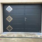 mpo fenêtres porte de garage avec portillon intégré ouverture plafond 1
