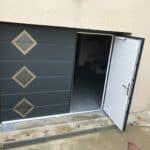 mpo fenêtres porte de garage avec portillon intégré ouverture plafond 2