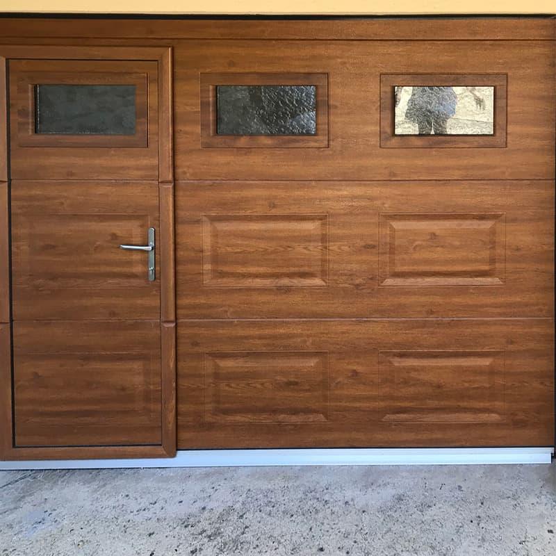 mpo fenêtres porte de garage chêne doré