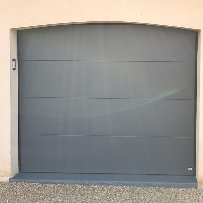 mpo fenêtres porte de garage gris