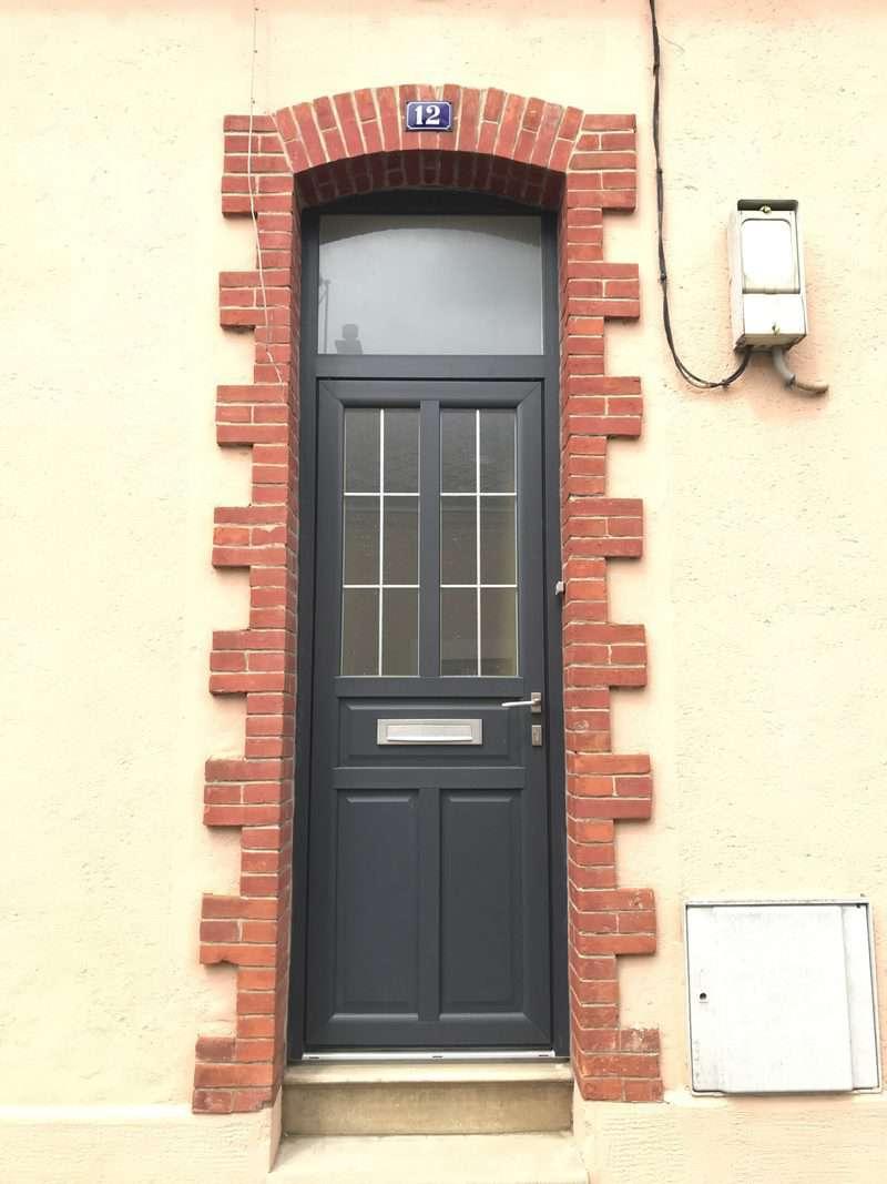 mpo fenêtres porte d'entrée avec imposte vitrée pvc