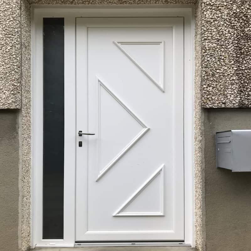 mpo fenêtres porte d'entrée blanche en pvc