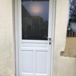 mpo fenêtres porte d'entrée en pvc blanc avec vitrage personnalisé 1