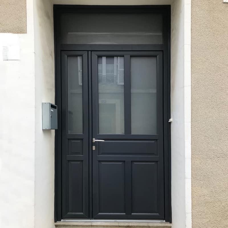 mpo fenêtres porte d'entrée en pvc gris anthracite