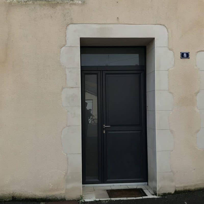 mpo fenêtres porte d'entrée grise