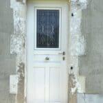 mpo fenêtres porte d'entrée pvc avec grille decorative sur mesure