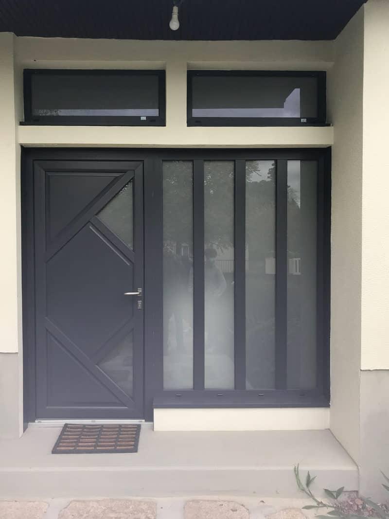 mpo fenêtres porte d'entrée pvc noire 1