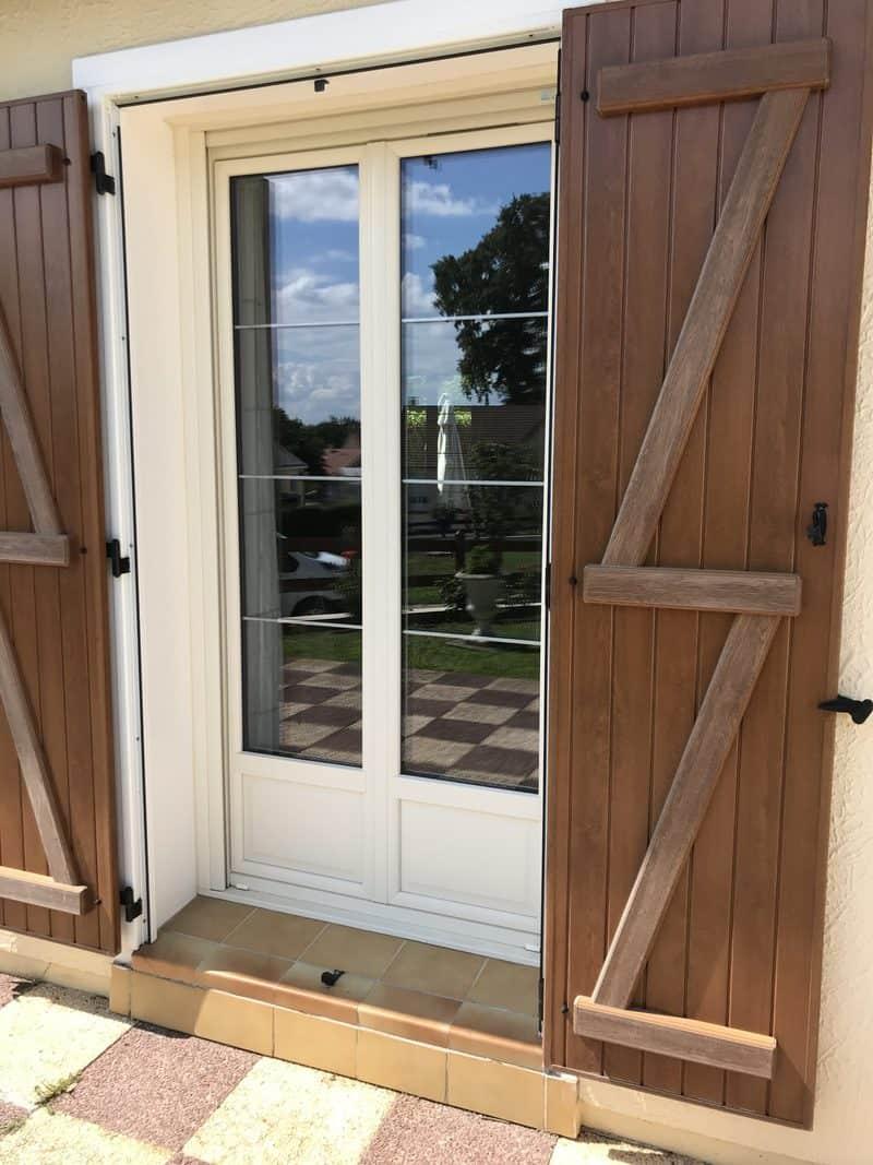 mpo fenêtres porte d'entrée sable et porte fenêtre sable pvc 2