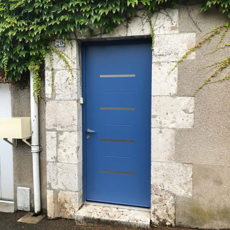 mpo fenetres porte d'entrée en alu bleu