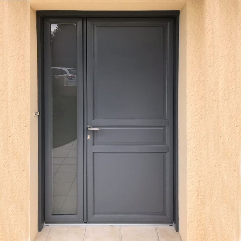 mpo fenêtres porte d'entrée en pvc gris anthracite le mans