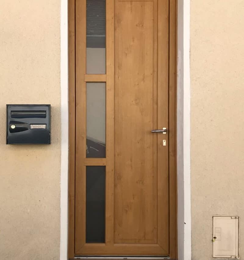 mpo fenêtres porte d'entrée en pvc effet bois chêne doré