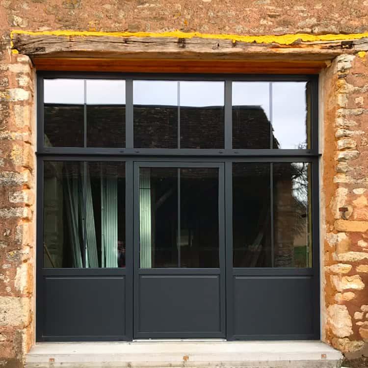 mpo fenêtres style verrière noire