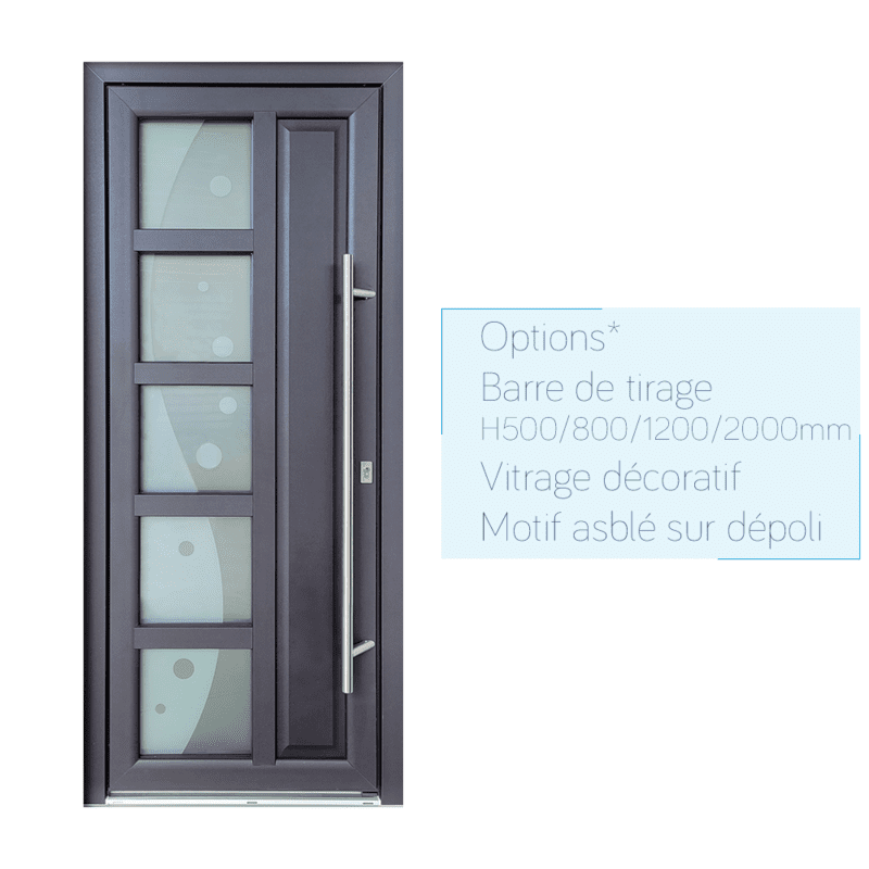 mpo fenêtres porte d'entrée avec barre de tirage