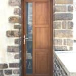 mpo fenêtres porte d'entrée pvc chêne doré avant après