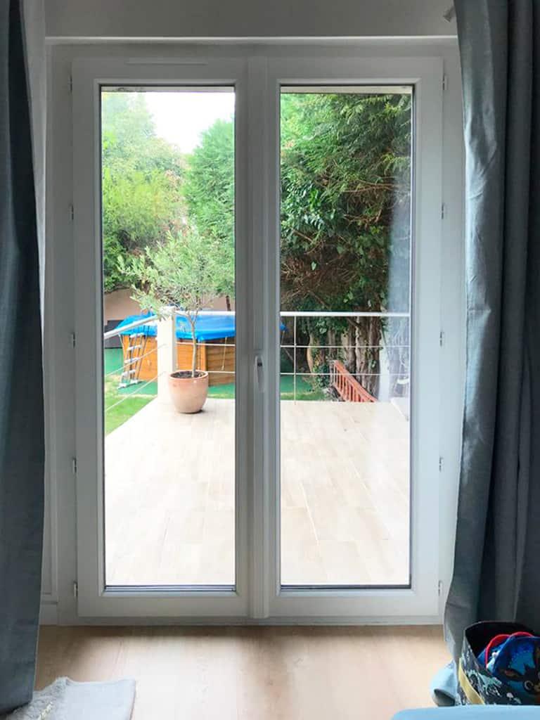 mpo fenetres drancy porte fenêtre pvc blanche double vitrage